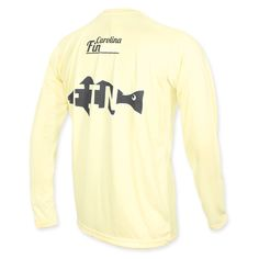 Carolina Fin Fish Drift Long Sleeve Shirt - Yellow