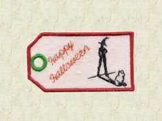 Halloween Party Tags Machine Embroidery Designs http://www.designsbysick.com/details/halloweenpartytags