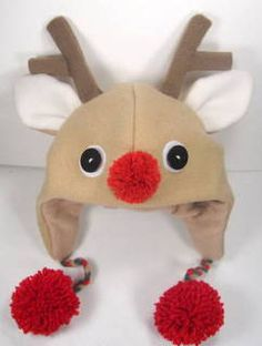 SALE-PDF ePattern-Reindeer Fleece Aviator Hat Tutorial, Children hat, Christmas Hat pattern, Baby hat, Easy Fleece Hat