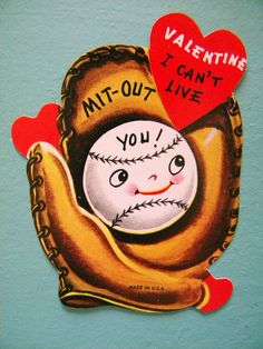 Vintage Anthropomorphic Valentine's Day Card by SongbirdSalvation