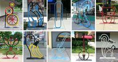 Downtown Toledo Bike Racks #1