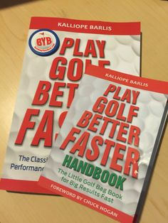 Next up on our reading list: Play Golf Better Faster by Kalliope Barlis
