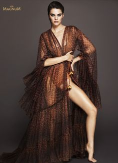 Dare To Be The Centre Of Attention Kendall for Magnum Double Ice Cream photographed by Mert Alas & Marcus Piggott (HQ)