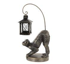 Visst ser han nöjd ut med sin lykta!? Inte tänkt att stå ute. #apa #ljuslykta #inredning #geckoträdgård #lantligthem #lantligträdgård #inredningsdetaljer #inredningsinspo #inredningsinspiration #inredningsdetalj #inredaute Table Lamp, Home Decor, Metal, Table Lamps, Decoration Home, Room Decor, Home Interior Design, Lamp Table, Home Decoration