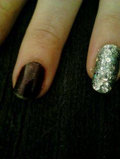 Detail shot of manicure and custom polish I made