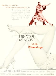 Fred Astaire and Cyd Charisse in 1957's Silk Stockings. #vintage #1950s #movies