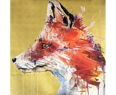 Check out this guy! Dave White's iconic Fox finished with gold leaf, £2,500, available here: http://www.nellyduff.com/gallery/dave-white/fox-gold-leaf-edition #gold #metallic #animals #DaveWhite #fineart