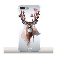 Coques Artistes pour téléphones iPhone 7 plus Deers and Magnolias #iphonecase #phonecases #iphone7pluscase #animals #floralart