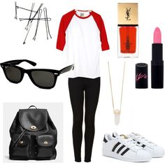 Untitled #104 by fashionxstuff on Polyvore featuring polyvore fashion style Topshop adidas Coach Michael Kors Ray-Ban Yves Saint Laurent Rimmel