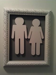 funny:) for half bath door so people will know it's a restroom and not a closet;)