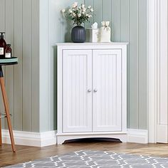 White Corner Cabinet, Bathroom Corner Cabinet, Bathroom Standing Cabinet, Bathroom Floor Cabinets, Bathroom Wall Shelves, Free Standing Cabinets, Kitchen Cabinets, Storage Cabinets, Tall Cabinet Storage