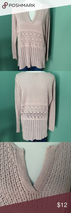 """J Jill long sleeve top A crocheted pale purple top with 80% silk & 20% cotton. Shoulder 17"""" sleeve 24.5 length 31"""". Very good condition. J Jill Tops Blouses"""