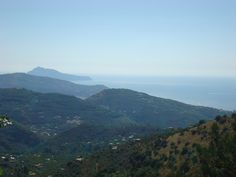 View from Mount Faito, Campania