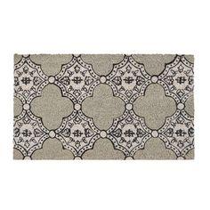 Paillasson 100% coco gris motifs mosaique 70x40cm ECLECTIC