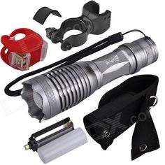 SingFire SF-705B LED 450lm 5-Mode White Zooming Flashlight w/ Tail Light - (1 x 18650). Zooming adjustable; Compact size & Lightweight, convenient to carry; Aluminum alloy casing and skid-proof design, feel more comfortable; Made of high quality aluminum alloy, this flashlight is sturdy and durable enough for long time daily using; Crenellated strike bezel for enhanced self-defense. Can use 1 x 18650 or 3 x AAA batteries (not available). Tags: #Lights #Lighting #Flashlights #LED #Flashlights…