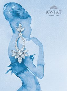 Watercolor Painting Advertising Campaign for Luxury Fine Jewelry Brand, Kwiat. Watercolor Painting Advertising Campaign for Luxury Fine Jewelry Brand, Kwiat. Includes Embossed and Engraved Logo Design by Benard Creative. Jewellery Advertising, Jewelry Ads, Jewelry Logo, Jewelry Packaging, Photo Jewelry, Jewelry Branding, Cute Jewelry, Luxury Jewelry, Dainty Jewelry