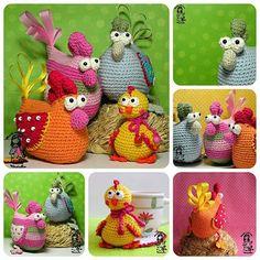 chicken pattern crochet - Google Search