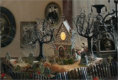 lots of ideas for village buildings and scenes halloween 56holiday halloween decorationshalloween