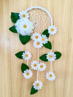 Daisy Dreamcatcher - dream catcher - dreamcatcher - nursery decor - bedroom decor - flowers - baby shower - birthday - gift for her - flower