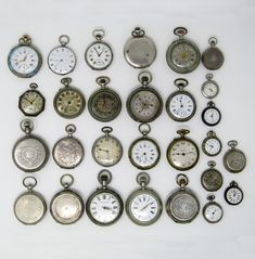 Lot of 28 pocket watches, late - early Century Movement: Manual winding 16 in silver. 2 in metal. They don't work. Some rusted. Only for collection purposes. Pocket Watches, Manual, Personalized Items, Pretty, Silver, Collection, Money, Pocket Watch