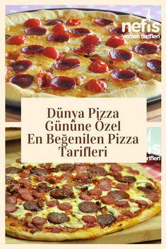 Demek dünya pizza günü! İncecik hamur üzerinde enfes malzemelerin uyumlu birleşimi ve erimiş peynirle taçlandırılmasından yayılan o enfes kokuyu alan pizza severler çoktan tıkladı bile ;) Pizzayla aram yok diyenler, çekinmeyin siz de yaklaşın, iştahınızı açacak leziz bir deneyim sizleri bekliyor :) . #nefisyemektarifleri #yemektarifleri #tarifsunum #lezzetlitarifler #lezzet #sunum #sunumönemlidir #tarif #yemek #food #yummy #pizza #pizzatarifleri #pizzagünü Pepperoni, Hamburger, Pizza, Yummy Food, Recipes, Decor, Kitchens, Delicious Food, Hamburgers