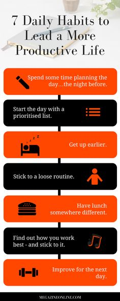 7 Daily Habits to Lead a More Productive Life - click for more.  #productivity #productivitytips #wellbeing #lifestyle #lifestyleblog
