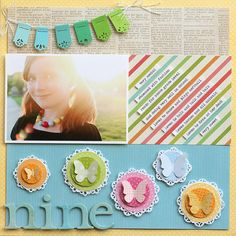 3-in-1 Corner Squeeze Punch Projects / Scrapbook Layouts | Fiskars