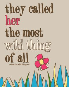 where the wild things are girls room wall by WallFrostingDesign, $14.00