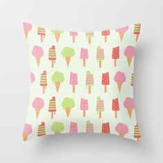 Ice Cream!!!  Throw Pillow by nicole martinez - $20.00