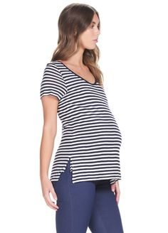788d0586759 Soon Maternity - Linen Basic Feeding T-Shirt