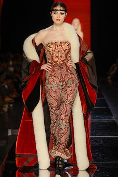 Jean Paul Gaultier paris runway - talk about a statement coat