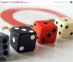 Black+Dice+Cuff+Links++Rockabilly+Wedding+Mens+by+Glamsquared,+$20.00
