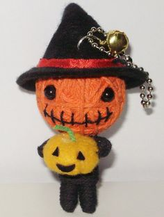 Halloween harvester witch String doll