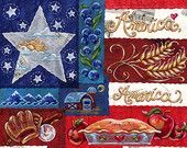 America the Beautiful-- original art print 8X8, 12X12