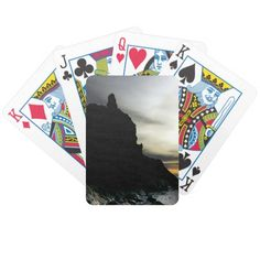 Sunset at Rialto Beach Olympic National Park Bicycle Playing Cards