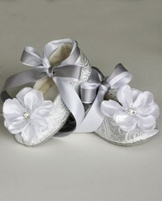 Grey Flower Girl tutu and blush rose clip by TutusChicBoutique