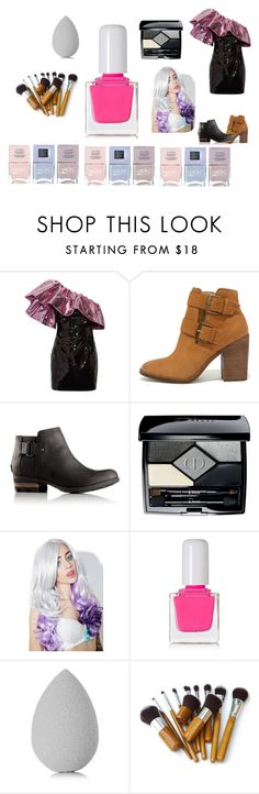 """""""# when u you don know what to wear to prom"""" by camren2 on Polyvore featuring Yves Saint Laurent, Steve Madden, SOREL, Christian Dior, Leg Avenue, tenoverten, beautyblender and Nails Inc."""