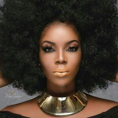 Brilliance Black Strong Queen that you are. Natural Hair Growth, Natural Curls, Natural Baby, Hair Puff, Black Magic Woman, Dope Hairstyles, Natural Hair Styles For Black Women, Coily Hair, African American Hairstyles