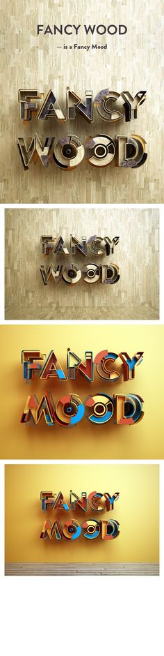Really cool 3D typography.