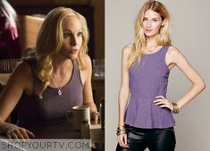 Caroline Forbes (Candice Accola) wears this textured peplum top in this upcoming episode of The Vampire Diaries. It is the Free People Affairs in Versailles Peplum. Unfortunately it is unavailable All Outfits from The Vampire Diaries Other Outfits from The … Continue reading →
