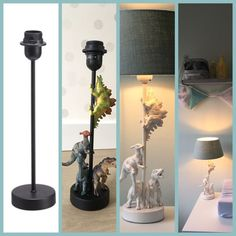 Lamp base: Quantum € 8 Dinos: Big Bazar € 5 Prim … - Easy Crafts for All