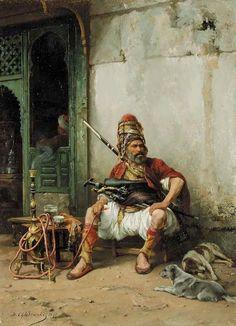 başıbozuk (jean gerome tablosu 19.yüzyıl)  that discordant (jean Gerome table 19th century)  irrégularité (jean Gerome 19ème siècle tableau)
