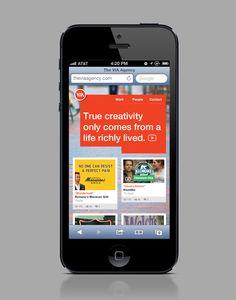 Responsive web design for advertising agency.