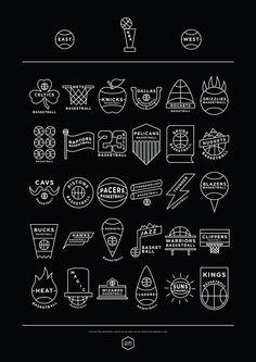 NBA Logos Simplified on Behance