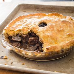 Pub Style Steak and Ale Pie - Cooks Illustrated - There's a place for marrying meat and vegetables under a pastry crust. This intensely savory pub favorite featuring tender beef napped in rich, glossy gravy is not that place. Steak Ale Pie, Steak And Ale, Beef And Ale Pie, Steak Pie Recipe, Irish Recipes, Pie Recipes, Cooking Recipes, Recipies, English Recipes