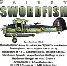 WARBIRDSHIRTS.COM presents WWII T-Shirts, Polos, and Caps, Fighters, Bombers, Recon, Attack, World War Two. The Swordfish