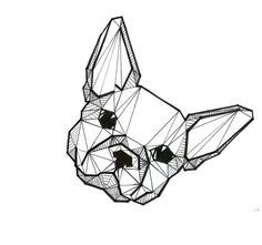 Geometric dog Drawing