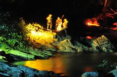 Nachtwanderung in der Groppensteinschlucht Seen, How To Look Better, Waterfall, Seasons, Painting, Outdoor, Tourism, National Forest, Environment