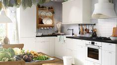 cuisine blanche style maison de vacances ikea
