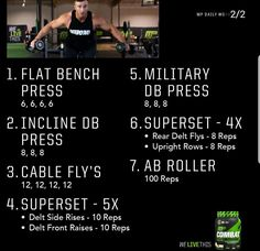 Free Weight Workout, Gym Workout Chart, Best Workout Plan, At Home Workout Plan, Workout Challenge, Ab Roller, Chest Workouts, Fun Workouts, Musclepharm Workouts